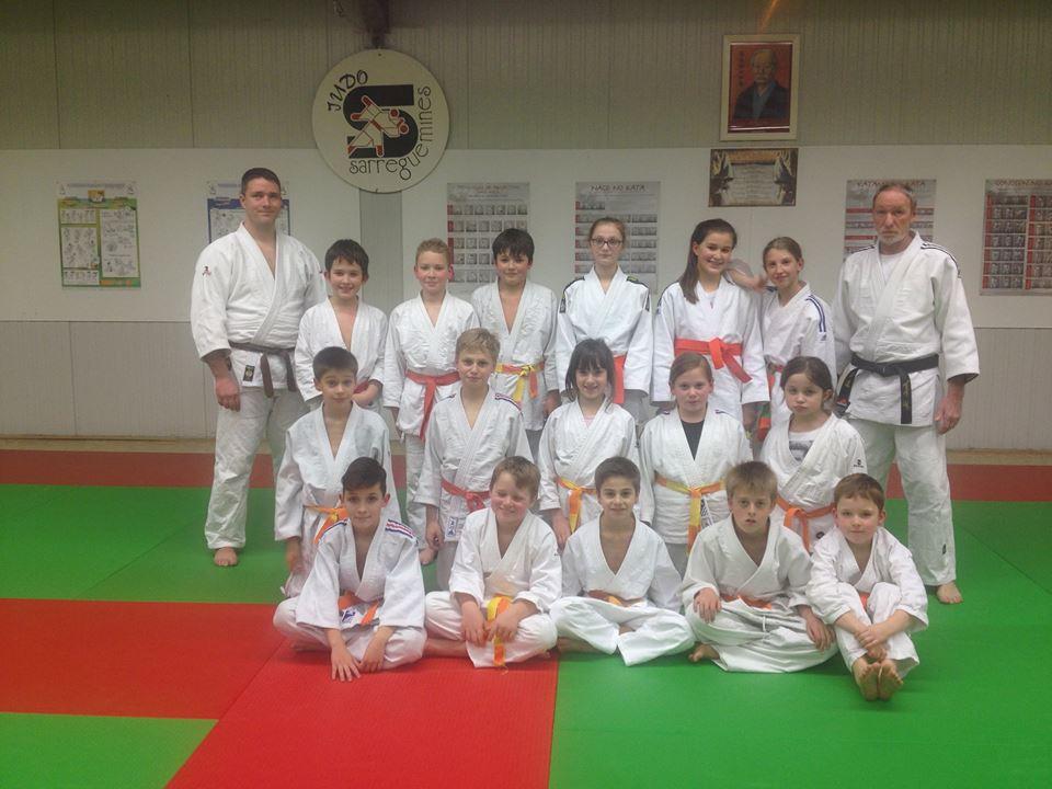 les benjamins participants au tournoi de Metz